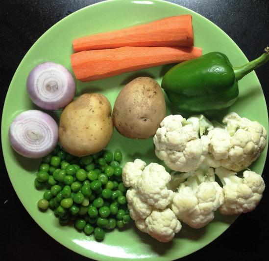 पाव भाजीसाठी लागणा-या भाज्या
