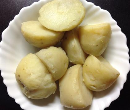 उकडलेले बटाटे