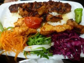 टर्किश कबाब प्लॅटर